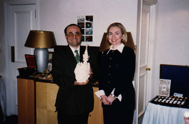 With Hillary Clinton